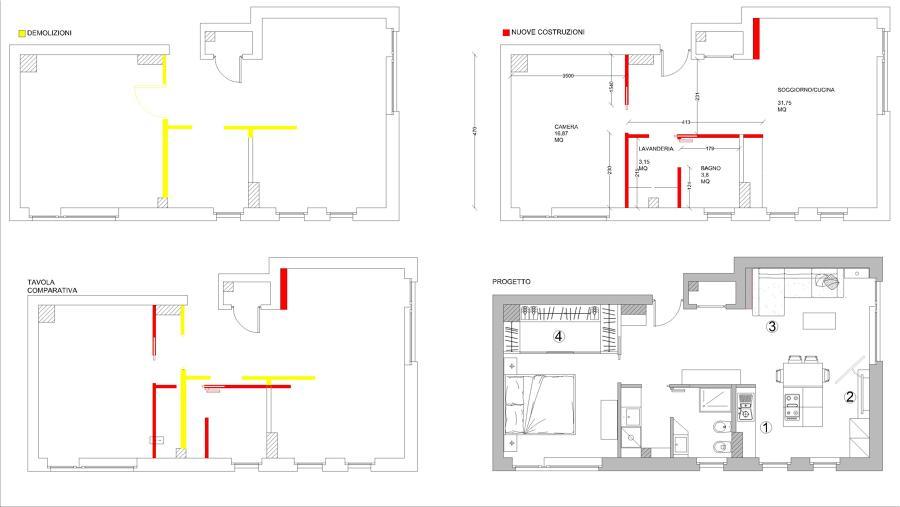 Ristrutturazione appartamento idee ristrutturazione casa for Progetto ristrutturazione appartamento