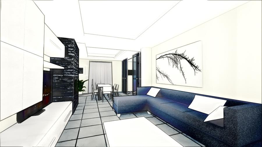 Progetto ristrutturazione appartamento moderno