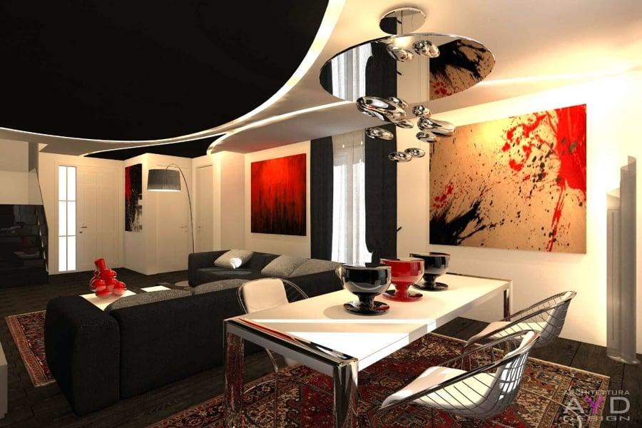 Foto progetto sala da pranzo studio ayd torino di for Sala da pranzo e soggiorno
