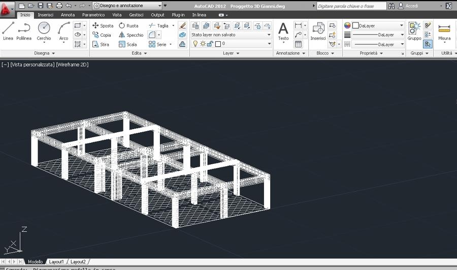 Progetto per struttura nuova per azienda idee for Progetto casa autocad