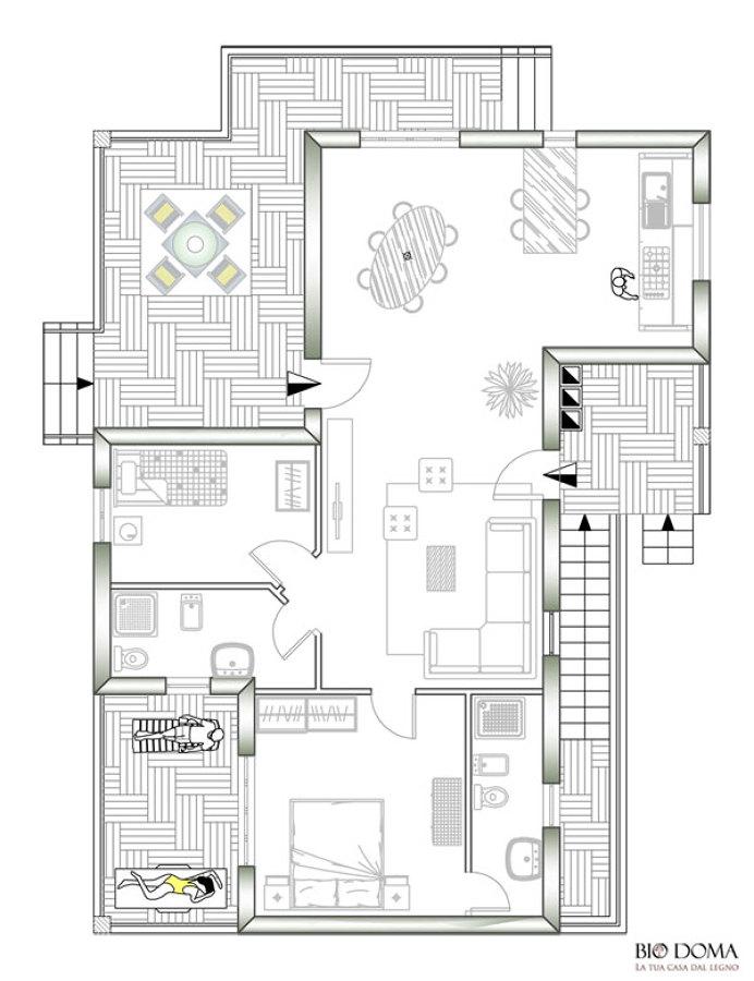 Progettiamo case in legno idee costruzione civile for Planimetrie case moderne