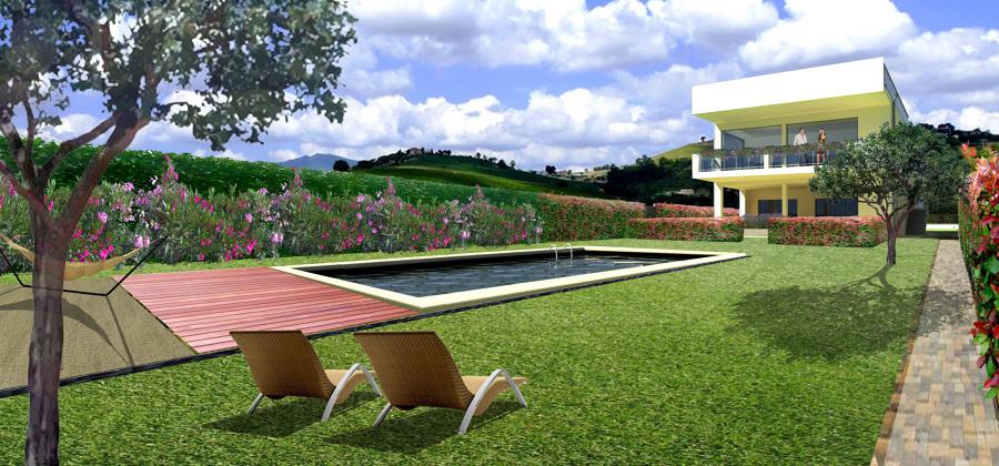 Progetto lago di garda idee giardinieri for Idee di progettazione cottage lago