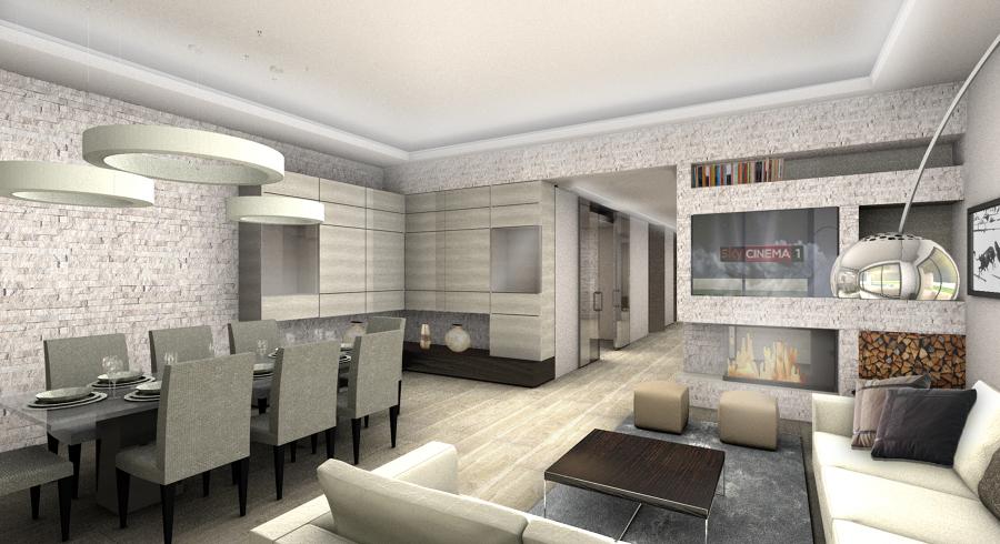 Villa a brescia idee architetti for Interni arredati