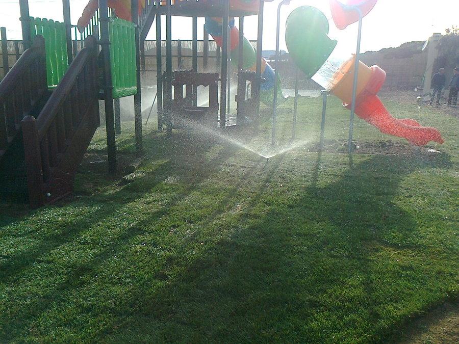 prova impianto di irrigazione