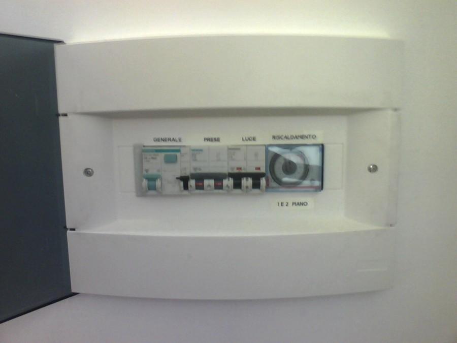 Impianto elettrico appartamenti casa religiosa idee elettricisti - Quadro elettrico casa a norma ...