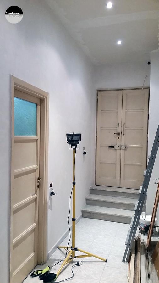 Rasatura soffitto/cartongesso e pareti ingresso