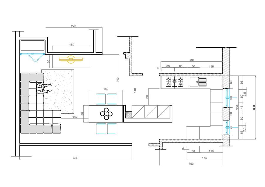 Progetto Cucina Soggiorno  Progetti Ristrutturazione Casa
