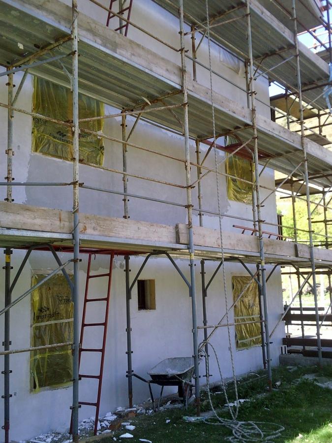 Realizzazione di cappotto termico in facciata