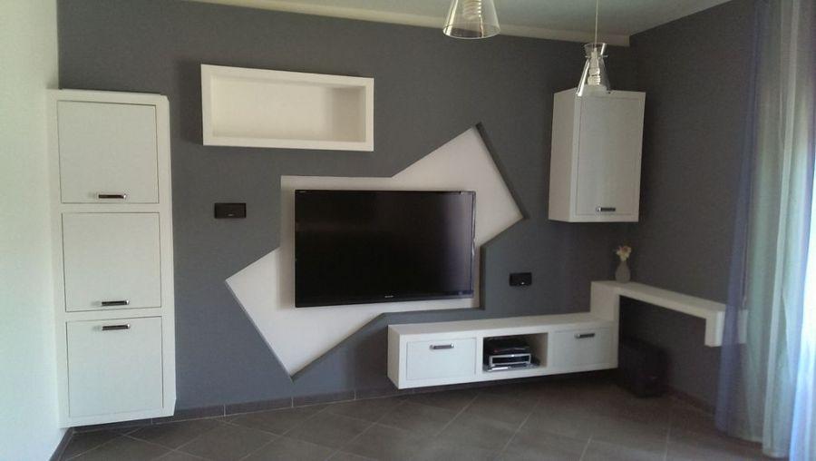Progetto mobile in cartongesso progetti costruzione case - Parete mobile in cartongesso ...