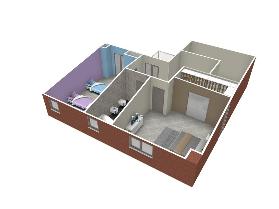 Realizzazione render villa a San Gillio