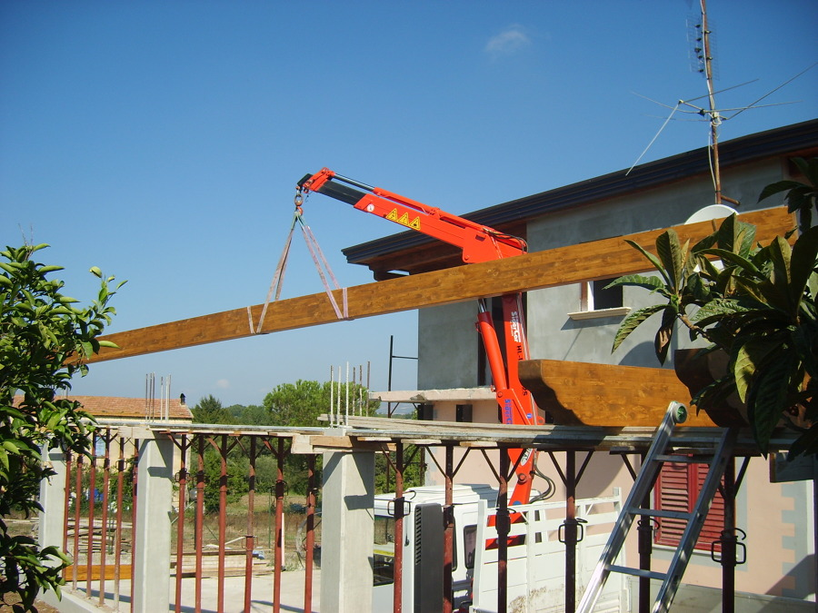 Foto realizzazione solaio per garage e terrazzo di e m style