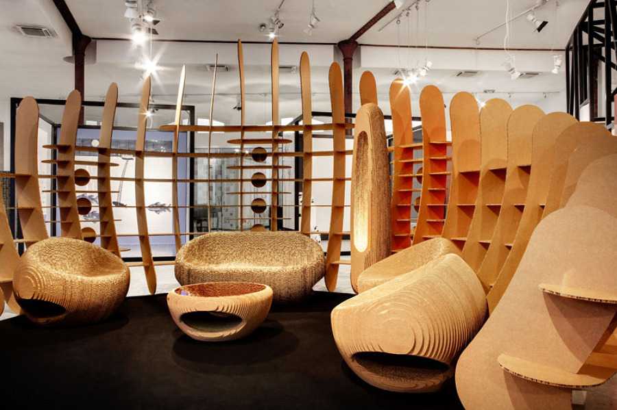recyclable planet allestimento espositivo idee architetti