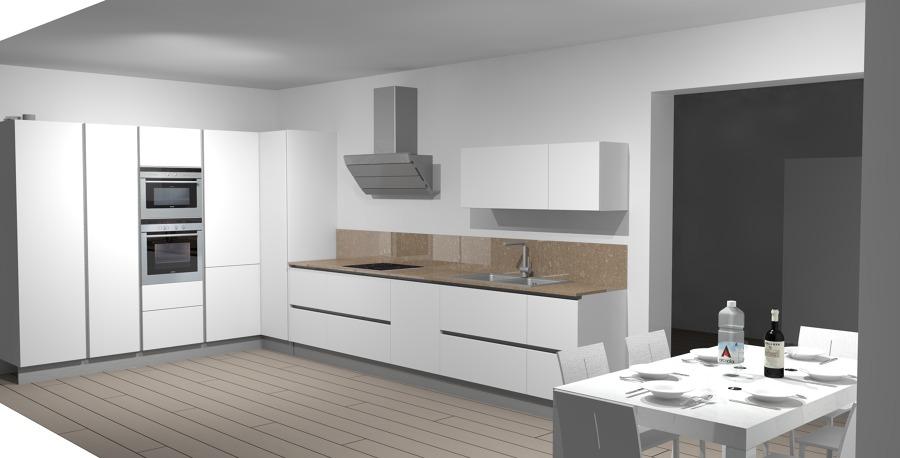 Cucina con Colonne Angolo | Idee Interior Designer