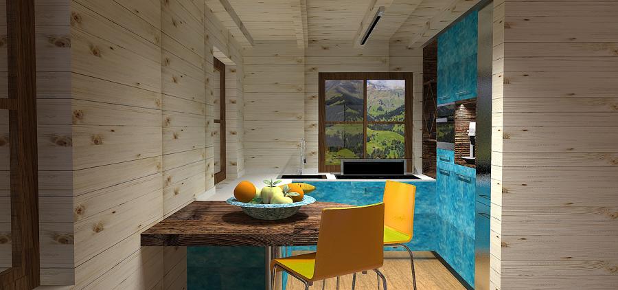Foto: Render Cucina Casa di Montagna di Lc Design #408967 ...