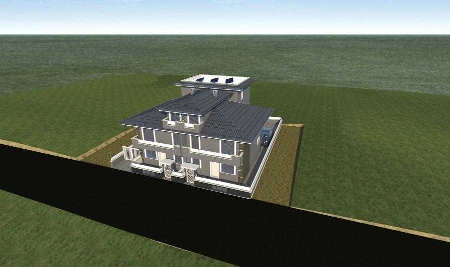 Render della riqualificazione edificio esistente con for Piano di costruzione dell edificio