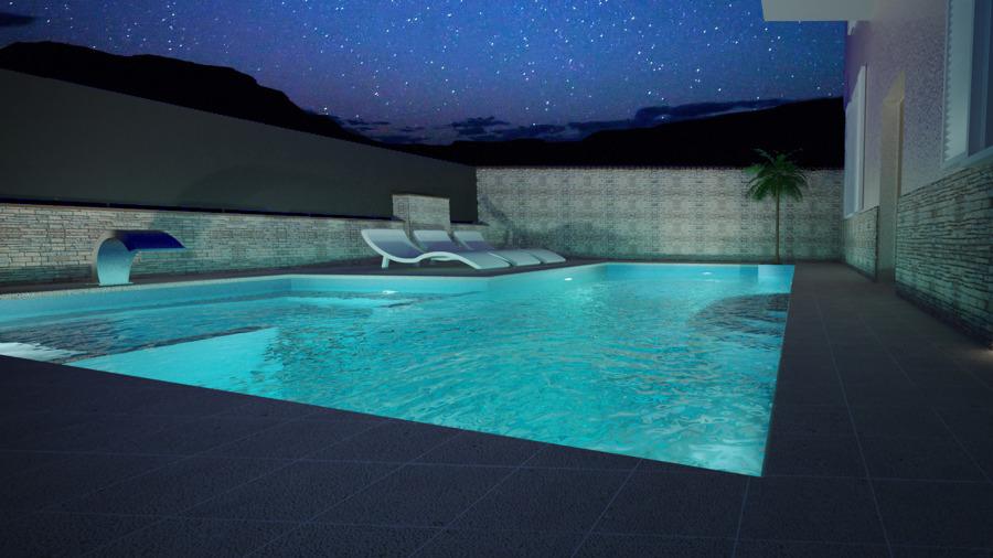 render notturno piscina Paratico (BS)