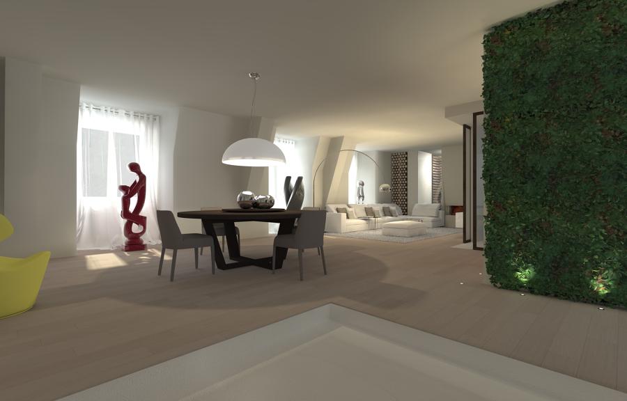 Ristrutturazione attico a bergamo idee architetti for Architetti per interni