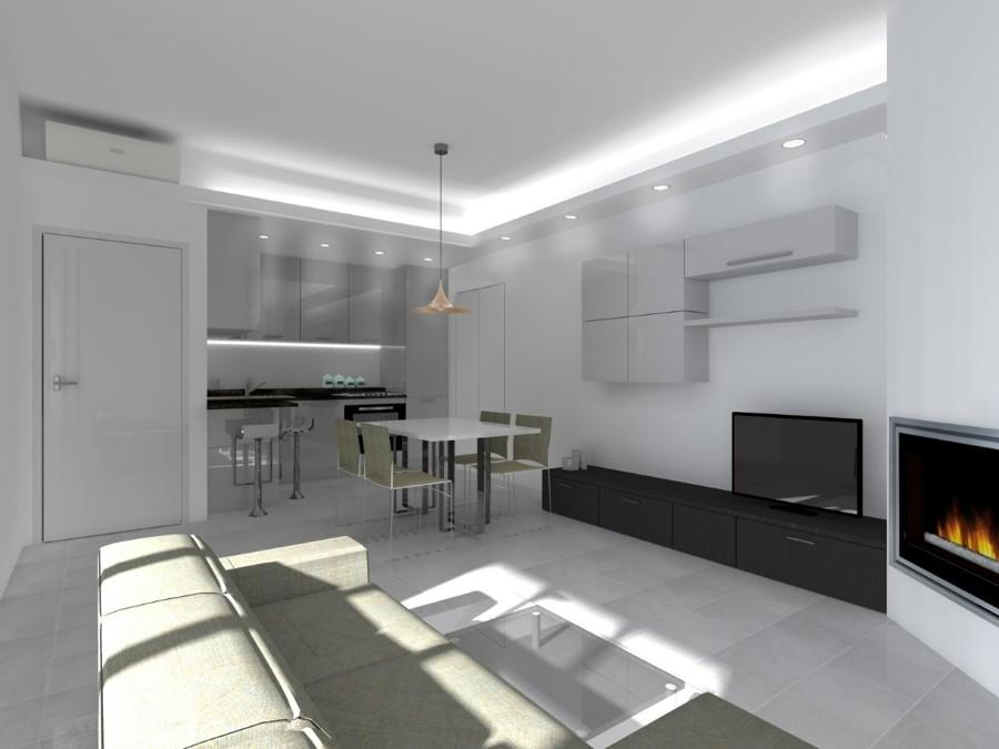 Foto: Render Soggiorno e Angolo Cottura di 2p+m Architetti #431265 ...