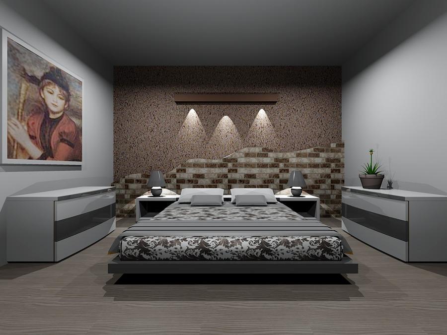 Emejing camera da letto con parete in pietra images idee pareti