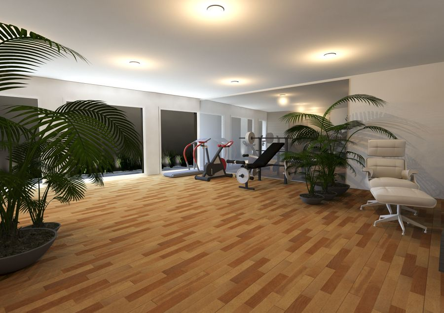 Rendering ambiente piano interrato