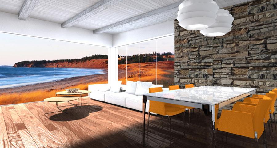 Progetto di arredo e interior design depandance progetti - Zona pranzo design ...