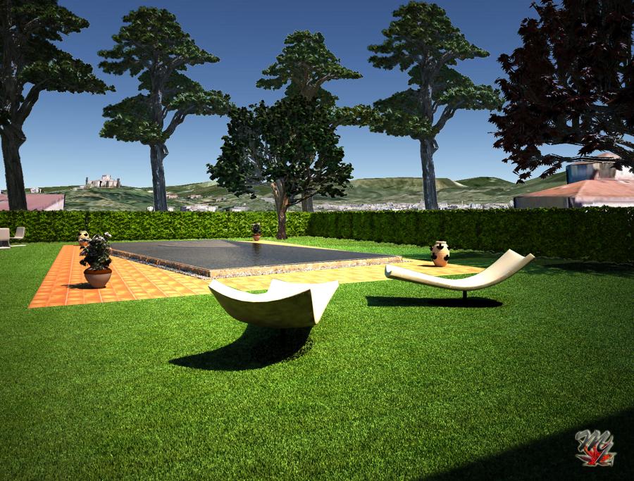 Progettazione di parchi e giardini idee giardinieri for Rendering giardino