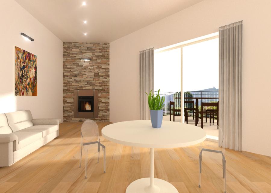 Rendering su sala for Idee piano appartamento