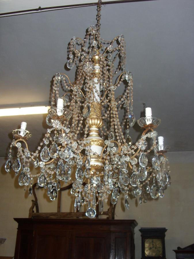 Progetto di Restauro di un Lampadario Antico Luigi Xvi   Idee Mobili -> Lampadario Antico Verniciato
