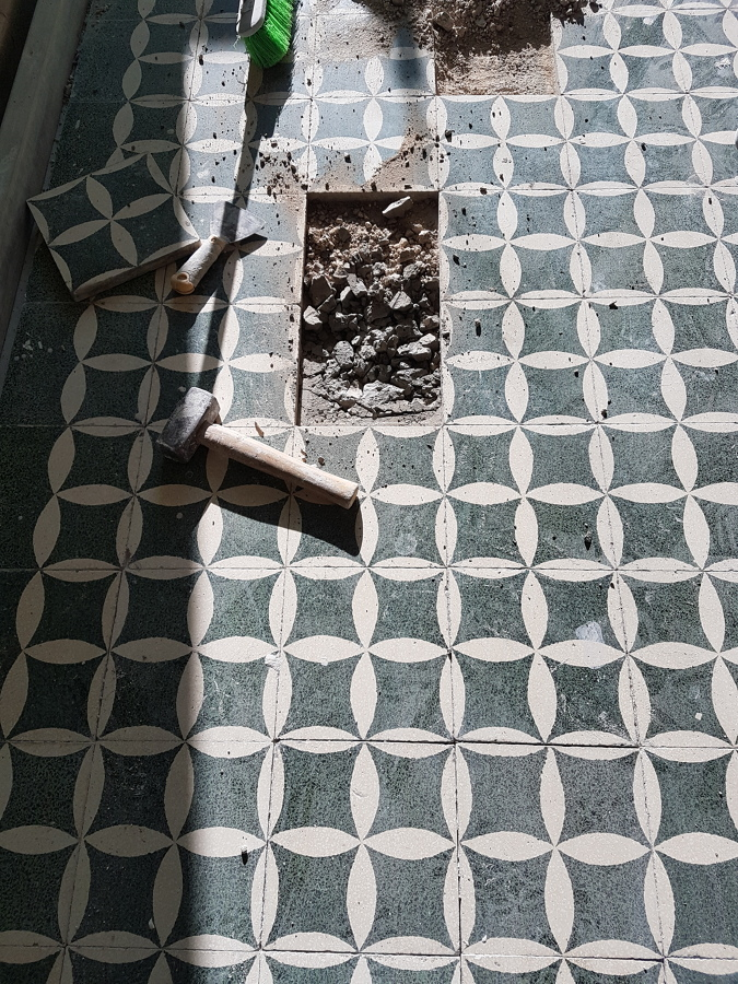 restauro pavimento antico anni 50