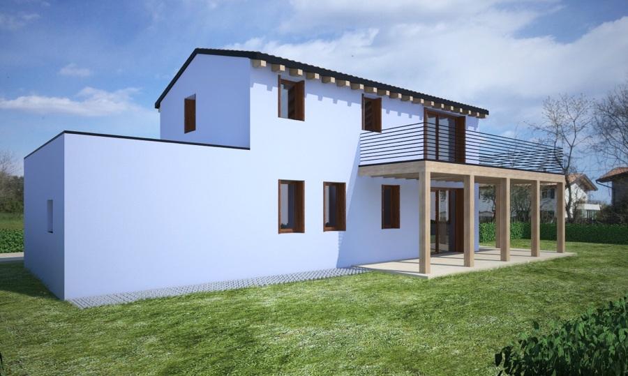 Casa in legno x lam idee costruzione case prefabbricate for Prezzo casa in legno