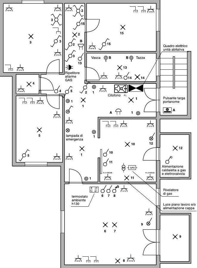 Progetto ristrutturazioni d 39 interno progetti for Disegno impianto riscaldamento a termosifoni