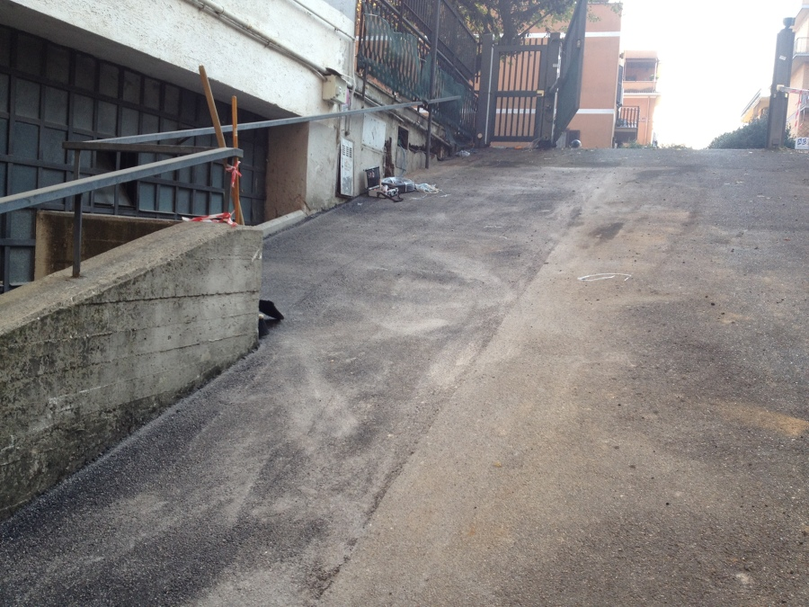 Rifacimento Rampa garage in asfalto