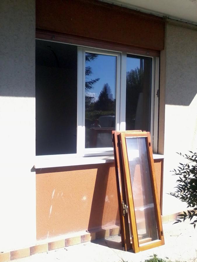 Rinnovo finestre a tre ante vista esterna