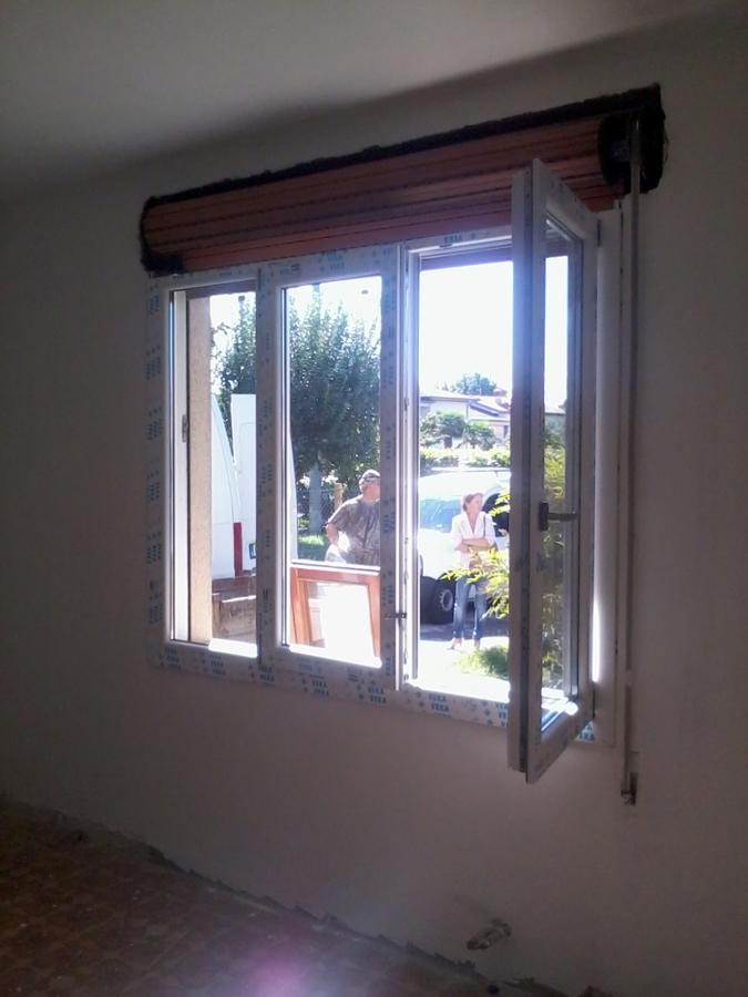 Rinnovo finestre a tre ante vista interna