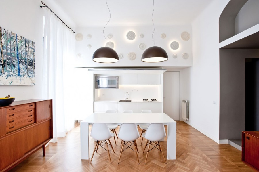 Ristrutturazione a milano: casa a due altezze idee interior designer