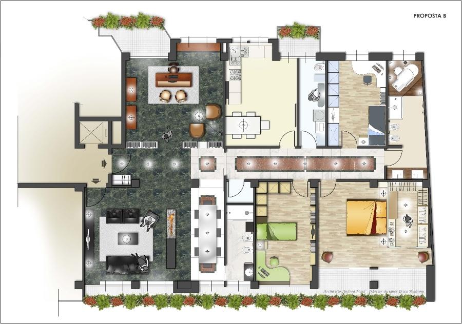 Progetto ristrutturazione appartamento idee architetti for Progetto ristrutturazione appartamento
