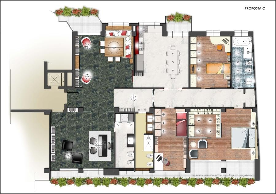 Progetto ristrutturazione appartamento idee architetti - Progetto camera da letto con cabina armadio ...