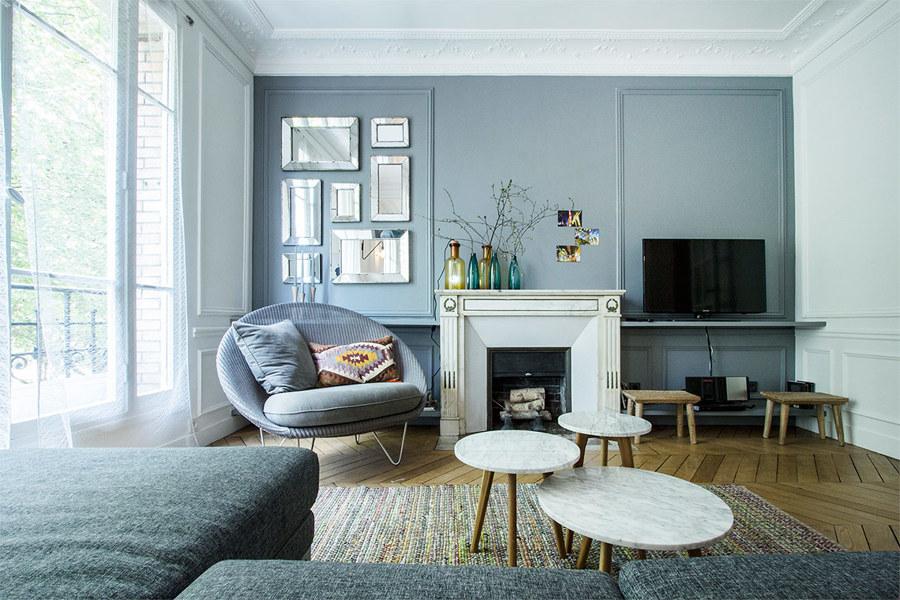 Un appartamento parigino in cui il nordico cool idee for Arredamento stile parigino