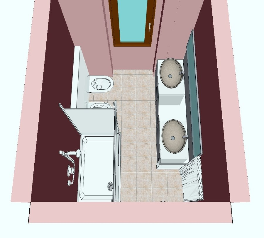 Progetto ristrutturazione bagno con doccia e doppiolavabo idee ristrutturazione bagni - Bagno con doccia ...