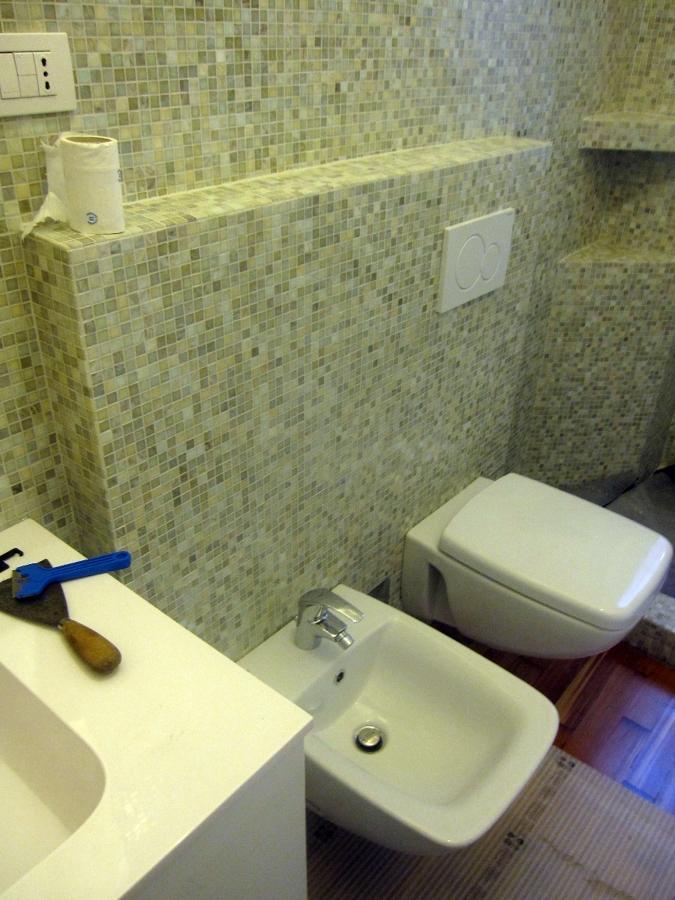 Progetto Bagno con Mosaico Bisazza e Piatto Doccia Filo Pavimento ...