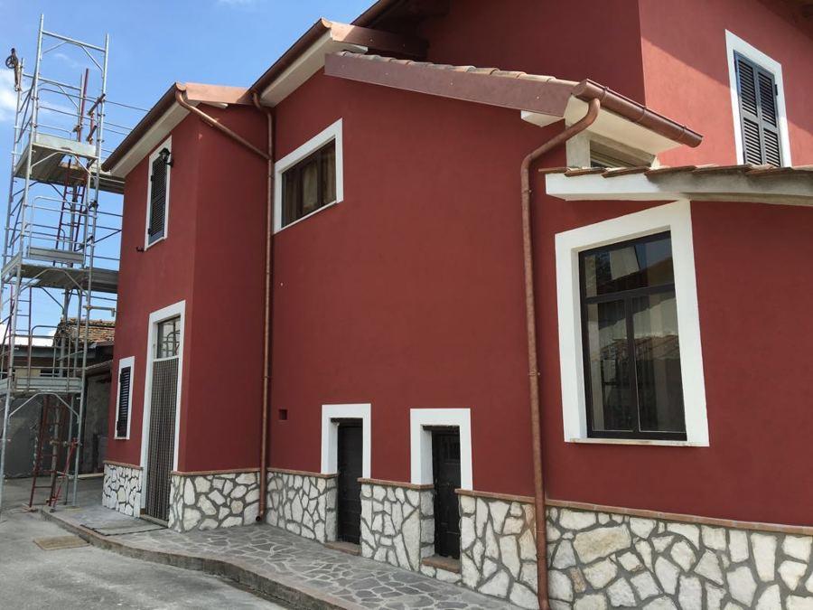 Ristrutturazione tetto e esterno villetta palestrina rm for Casa ristrutturazione idee