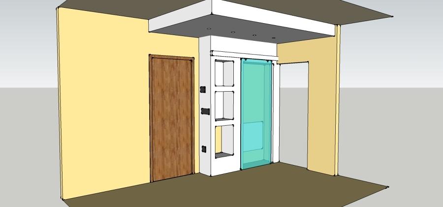 Foto ristrutturazione di interni mobili in pseudo muratura e cartongesso di leonardoone di - Mobili cartongesso soggiorno ...