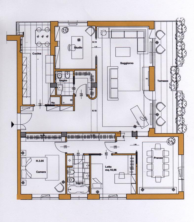 Progetto di ristrutturazione di un appartamento a roma for Progetto di ristrutturazione