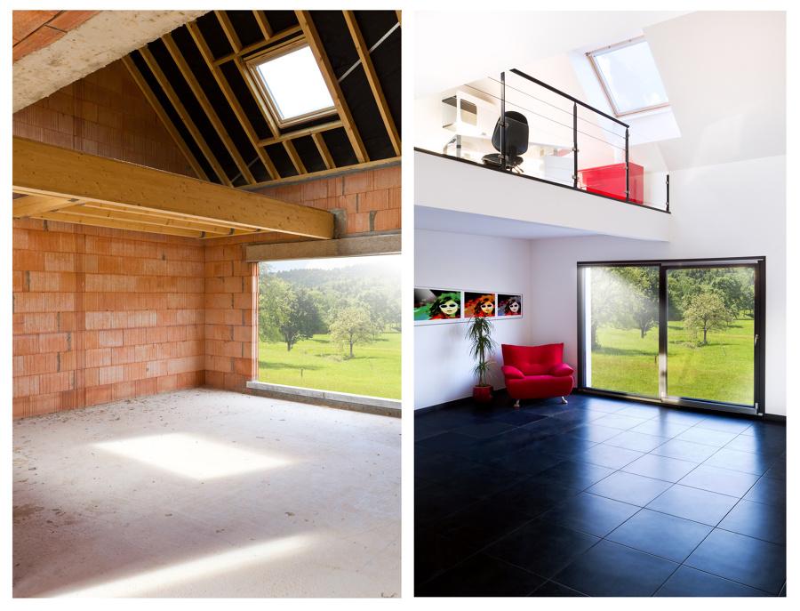 Progetto ristrutturazione di 2 open space idee for Progetto di casa loft
