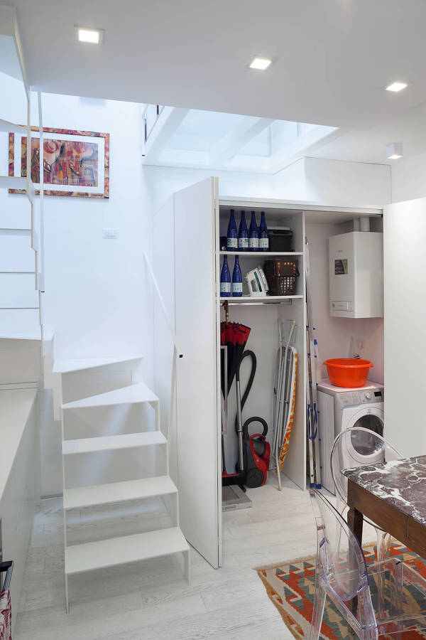 un piccolo loft ristrutturato per avere pi luminosit