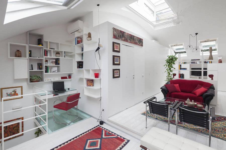 Cabina Armadio Cartongesso Xenia : Un piccolo loft ristrutturato per avere più luminosità idee