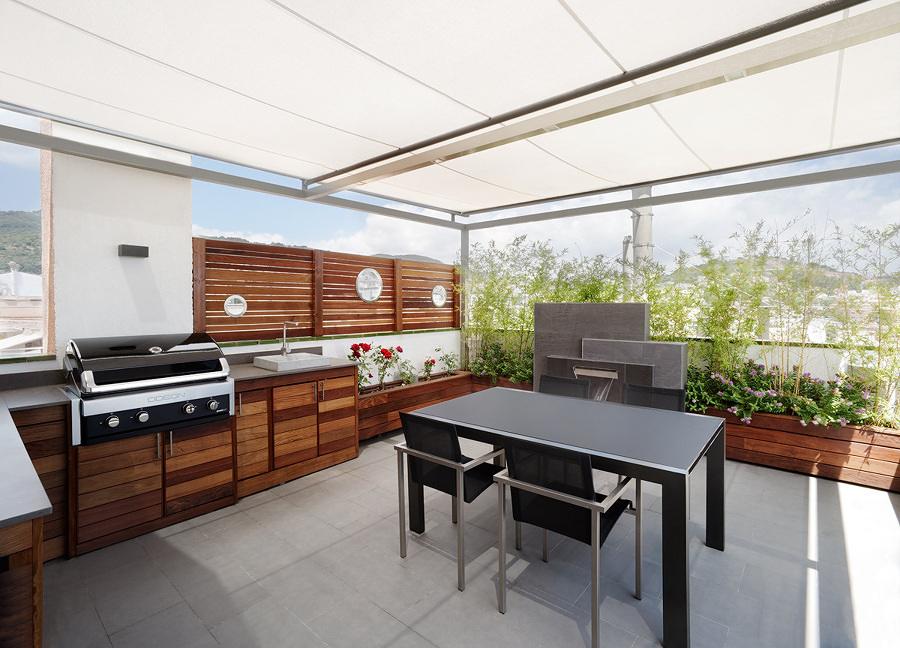Foto rivestimenti in legno terrazza di valeria del treste for Comedores exteriores para terrazas