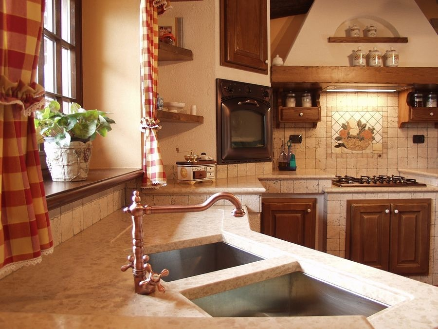 Foto rivestimento cucina in pietra d 39 jstria di zanco marmi di zanco vladimiro e silvano snc - Rivestimento cucina finta pietra ...