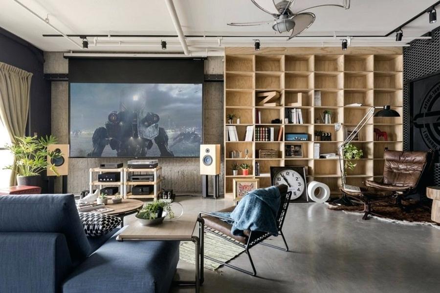 Sala tv con impianti