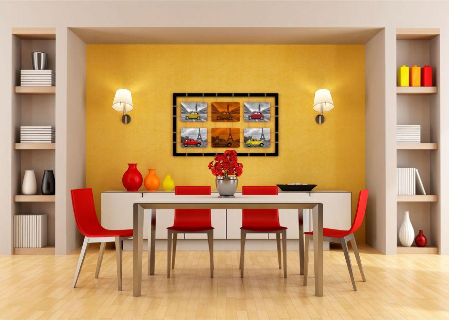 Il giallo un colore caldo e solare idee interior designer - Parete giallo ocra ...